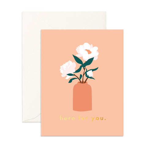 Here For You Magnolias Greeting Card - Min. of 6 per style