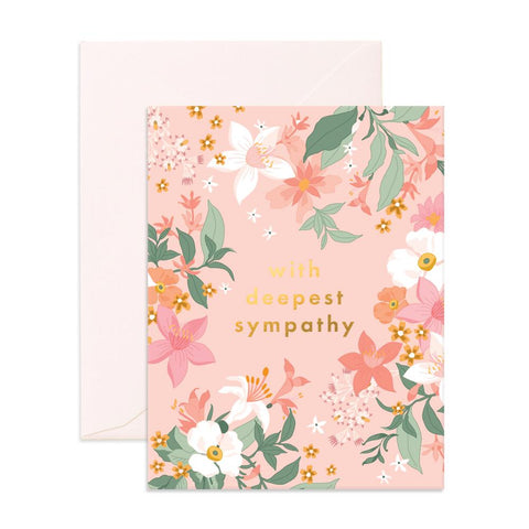 Deepest Sympathy Bohemia Greeting Card - Min. of 6 per style