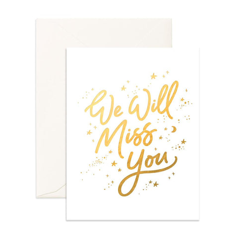 Miss You White Stars Greeting Card - Min. of 6 per style