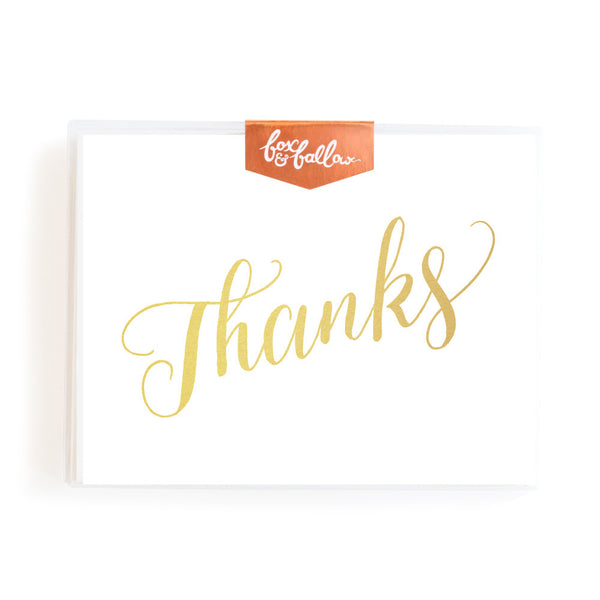 Thanks Foil Greeting Card Boxed Set
