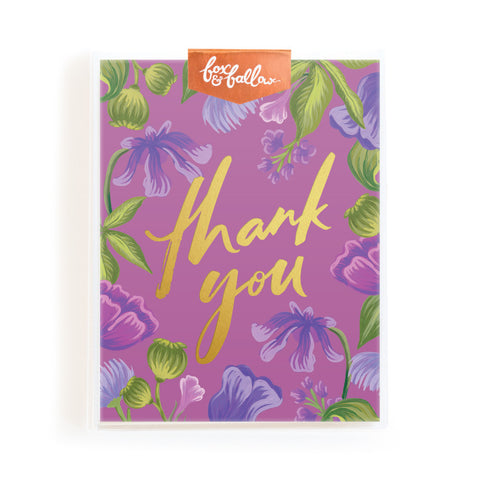 Thank You Floral Greeting Card Boxed Set
