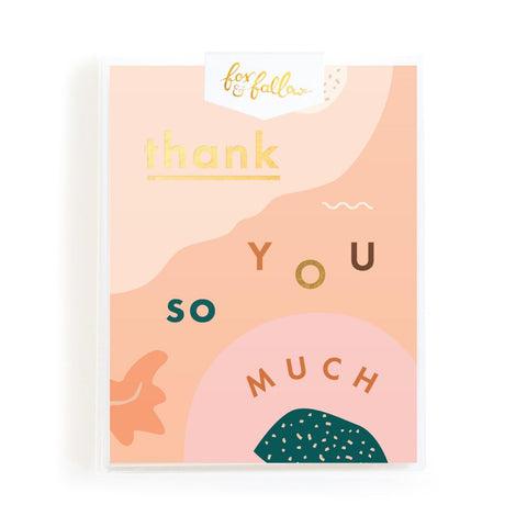 Thank You So Much Abstract Greeting Card Boxed Set - Min. of 4 per style