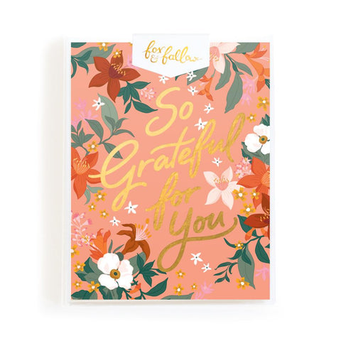 So Grateful Greeting Card Boxed Set - Min. of 4 per style