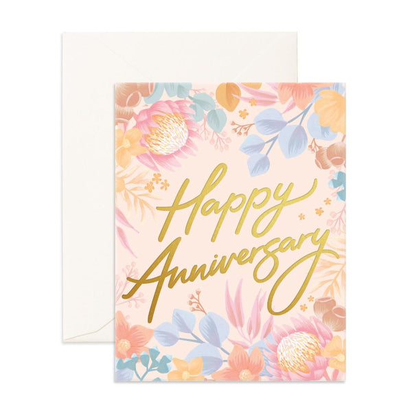 Happy Anniversary Floribunda Greeting Card