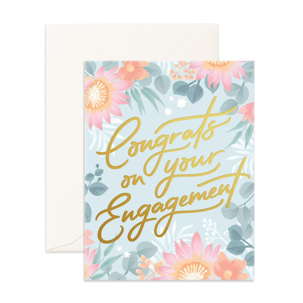 Congrats engagement greeting card fox fallow m4hsunfo