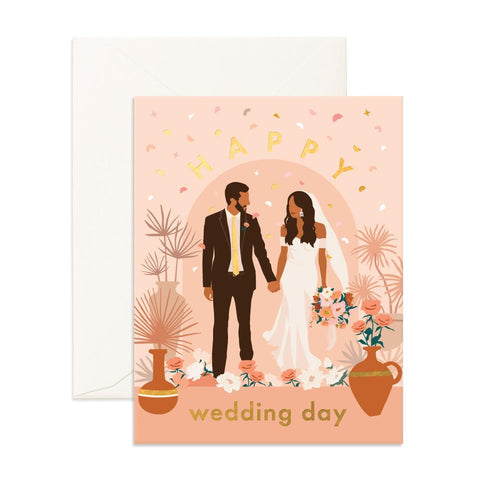 Happy Wedding Day Alter Greeting Card - Min. of 6 per style