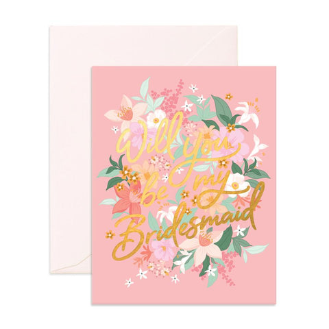 Will You Bridesmaid Bohemia Greeting Card