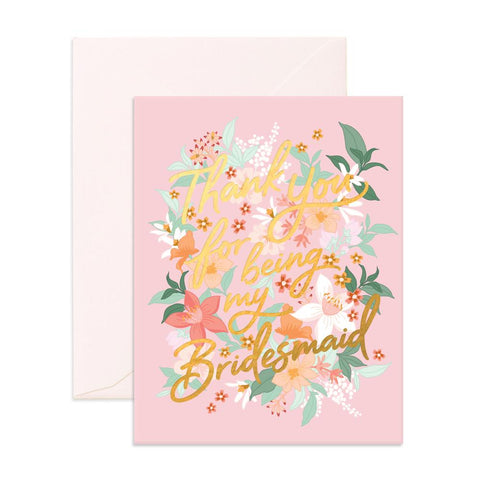 Thank You Bridesmaid Bohemia Greeting Card - Min. of 6 per style