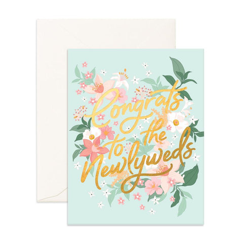 Congrats Newlyweds Bohemia Greeting Card