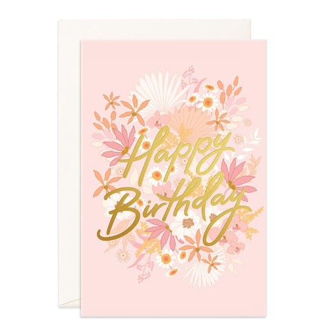 Happy Birthday Floribunda Jumbo Greeting Card - Min. of 3 per style