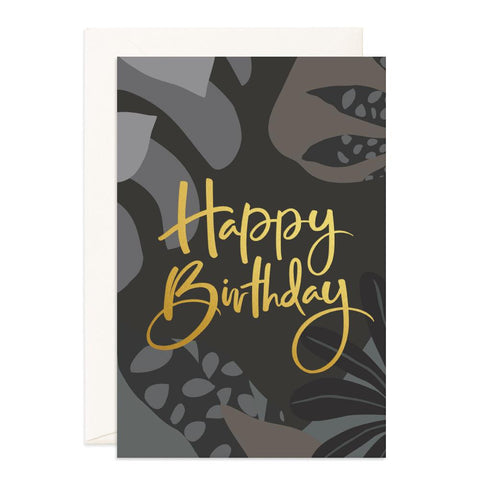 Happy Birthday Night Jungle Jumbo Greeting Card - Min. of 3 per style