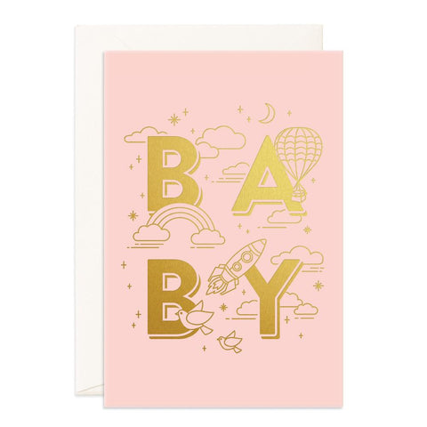 Baby Universe Pink Jumbo Greeting Card - Min. of 3 per style