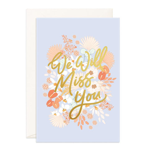 Miss You Floribunda Jumbo Greeting Card - Min. of 3 per style