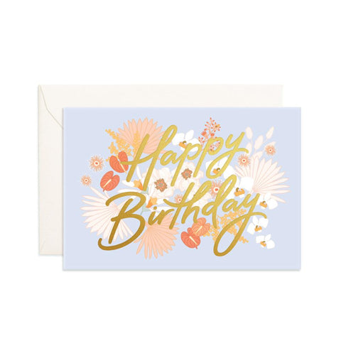 Happy Birthday Floribunda Mini Greeting Card - Min. of 6 per style