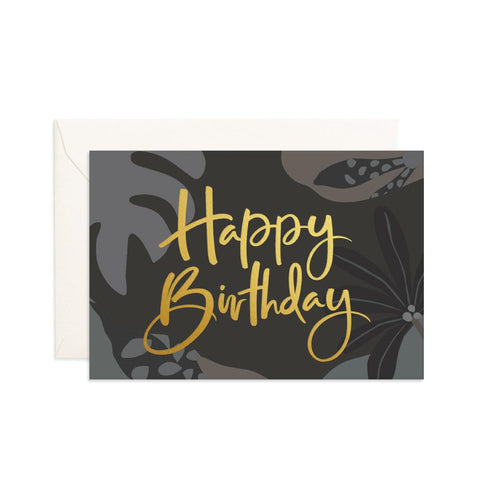 Happy Birthday Night Jungle Mini Greeting Card