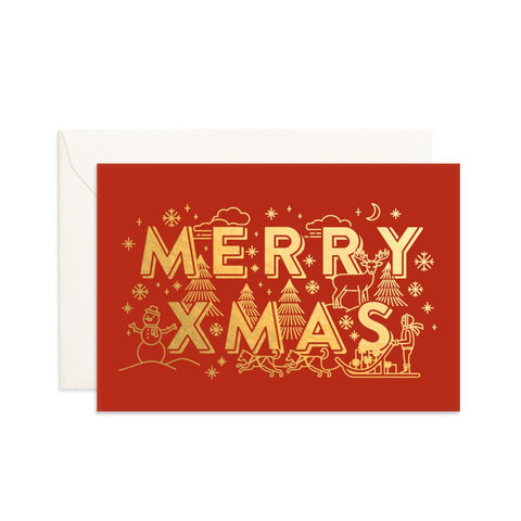Merry XMAS Mini Greeting Card