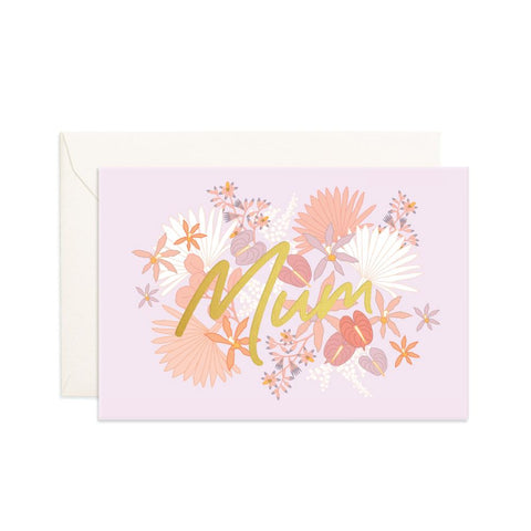 Mum Floribunda Mini Greeting Card