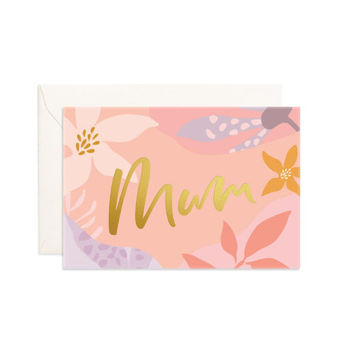 Mum Arcadia Mini Greeting Card - Min. of 6 per style