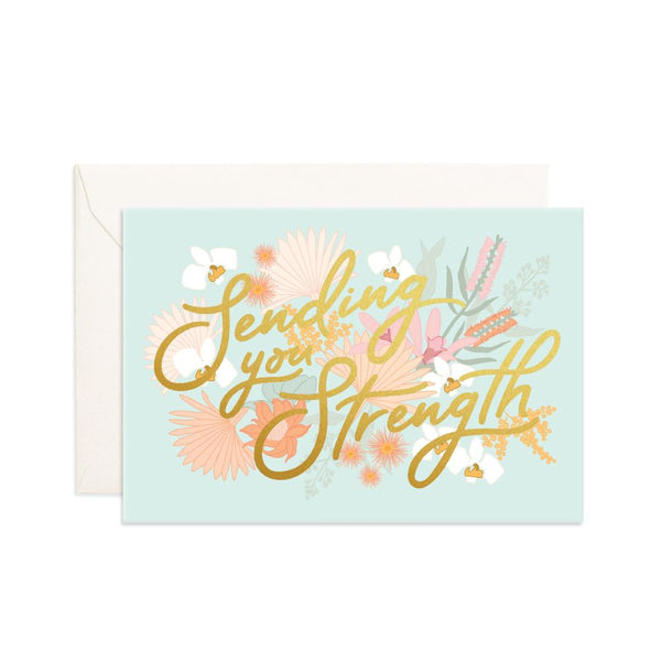 Sending You Strength Mini Greeting Card
