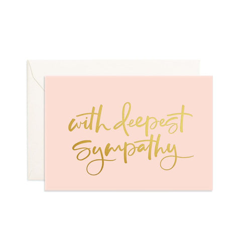 Deepest Sympathy Cream Mini Greeting Card - Min. of 6 per style