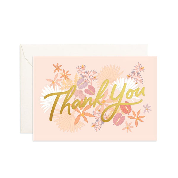 Thank You Floribunda Mini Greeting Card