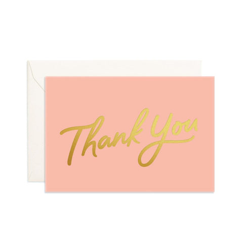 Thank You Peach Mini Greeting Card