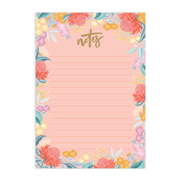 Wildflower A5 Notepad