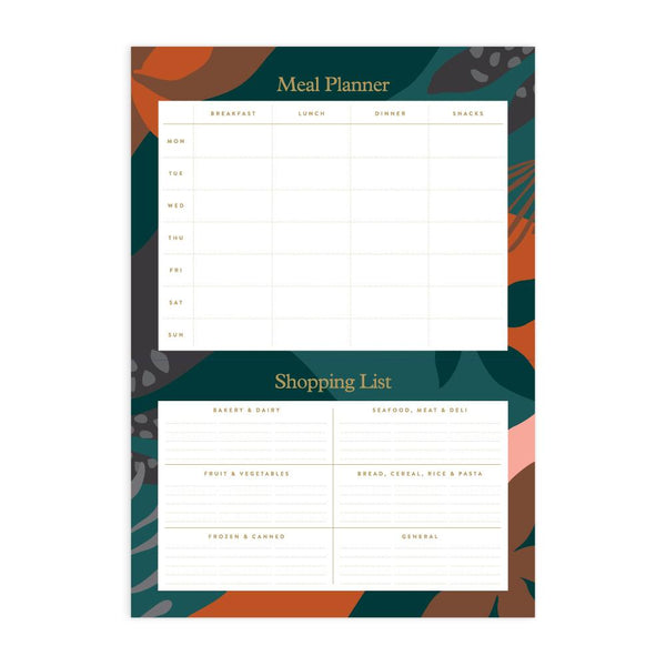 Arcadia A4 Meal Planner Magnet Notepad