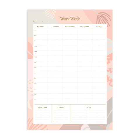 Arcadia A4 Work Week Notepad - Min. of 4 per style