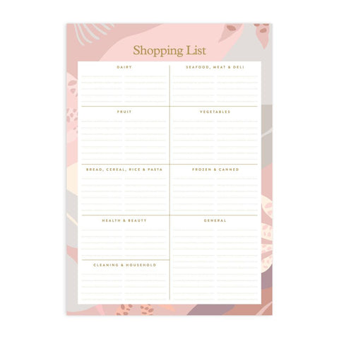 Arcadia A5 Shopping List Magnet Notepad - Min. of 4 per style
