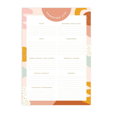 Muse A5 Shopping List Magnet Notepad