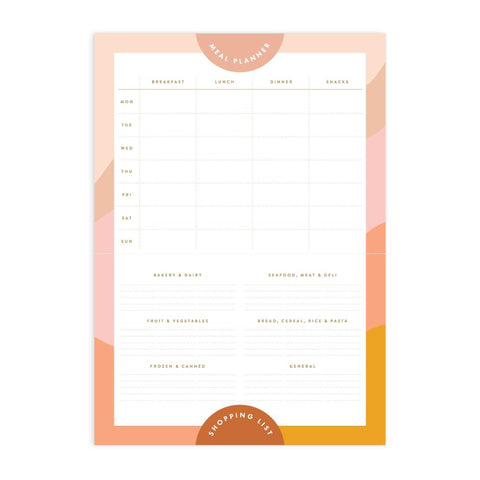 Muse A4 Meal Planner Magnet Notepad