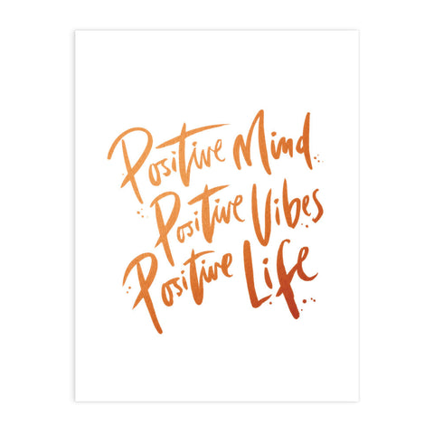 Positive Mind Art Print