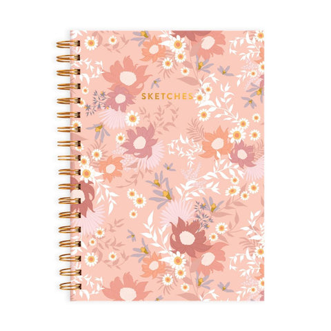 Floribunda Medium Spiral Sketchbook