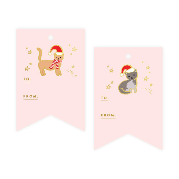 Cats Foil Gift Tag Pack