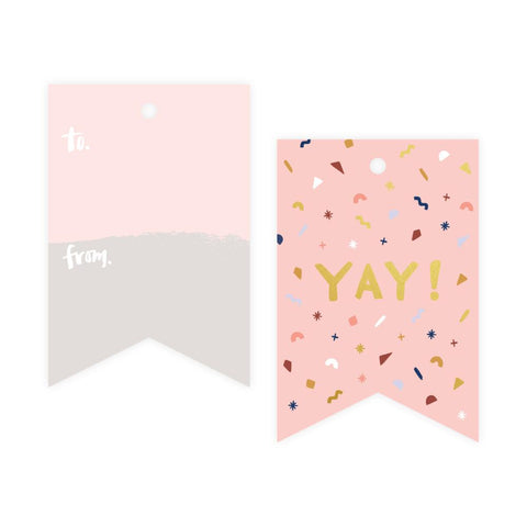 Yay Confetti Foil Gift Tag Pack