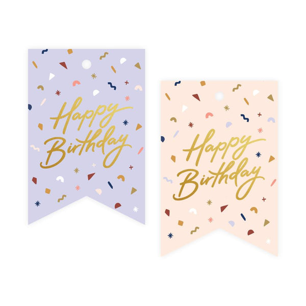 Birthday Confetti Foil Gift Tag Pack