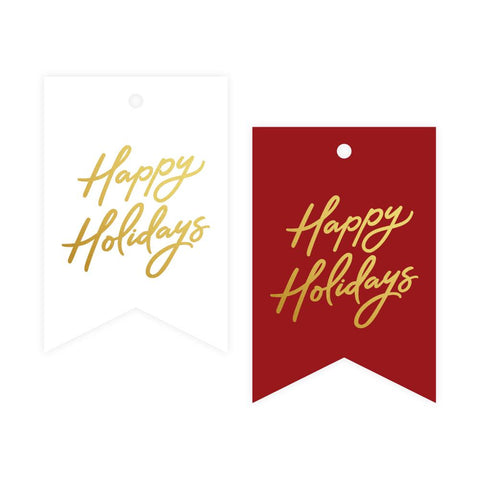 Happy Holidays Foil Gift Tag Pack