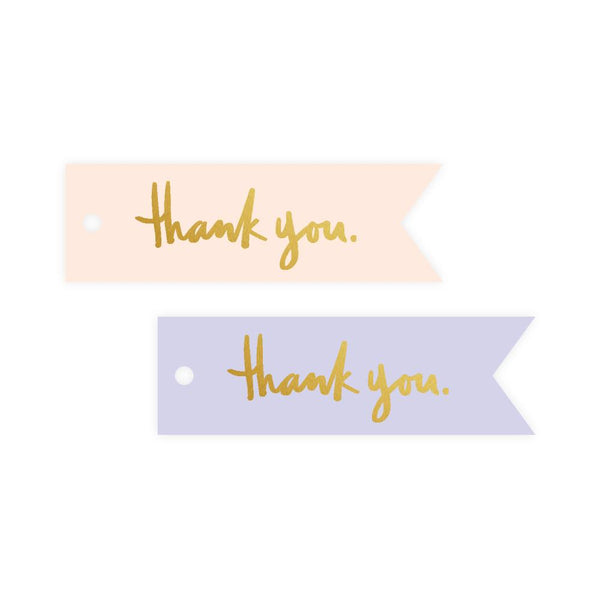 Thank You Mini Blue/Cream Gift Tag Pack