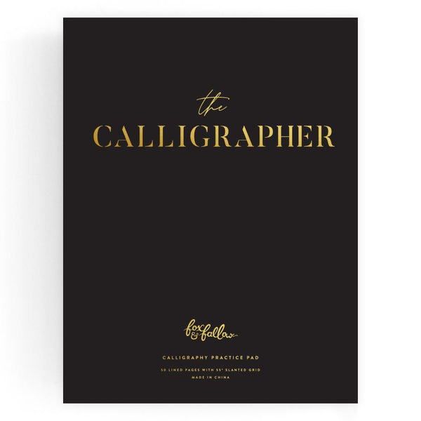 The Calligrapher Practice Pad Black