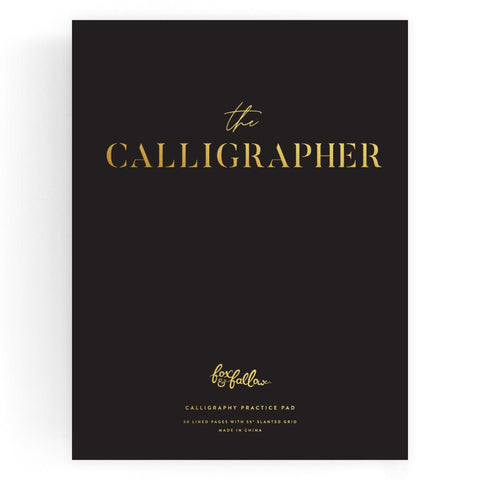 The Calligrapher Practice Pad Black - Min. of 3 per style