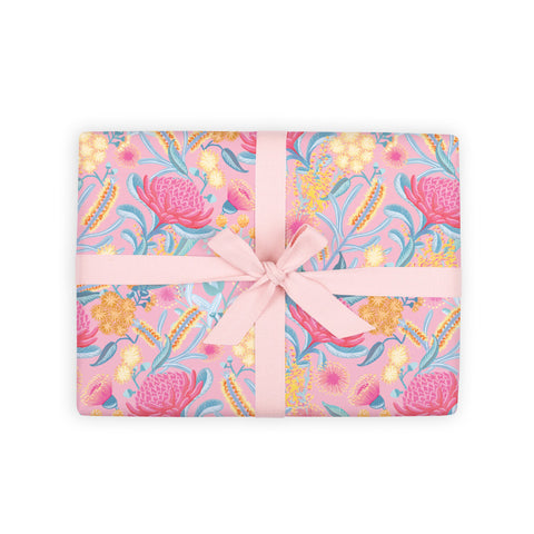 Bottlebrush Gift Wrap 6 Flat Sheets