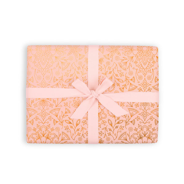Moroccan Peach Gift Wrap 6 Flat Sheets - PRE-ORDER - AVAILABLE EARLY JULY