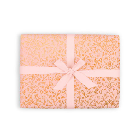 Moroccan Peach Gift Wrap 6 Flat Sheets