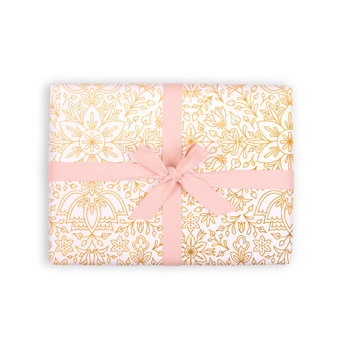 Prussian Snow Gift Wrap 6 Flat Sheets