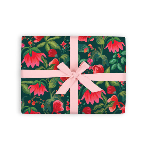 Poison Ivy Gift Wrap 6 Flat Sheets