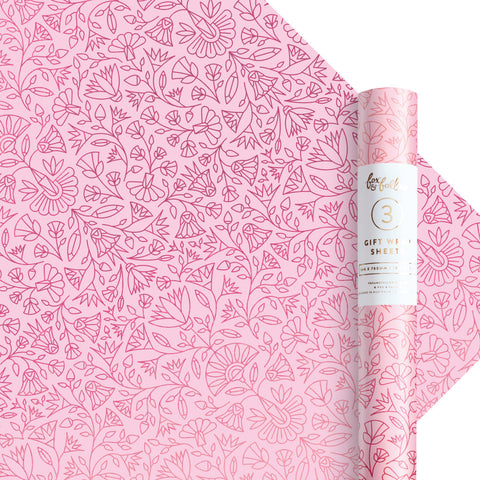 Egyptian Rose Gift Wrap - 3 Rolls of 3 Sheets