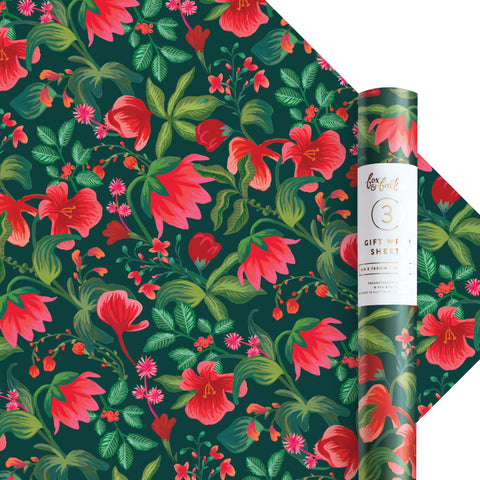 Poison Ivy Gift Wrap - Roll of 3 Sheets