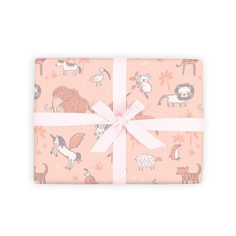 Baby Animals Gift Wrap Flat Sheet 6 Flat Sheets