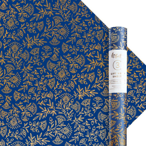 Navy Amulet Gift Wrap - Roll of 3 Sheets